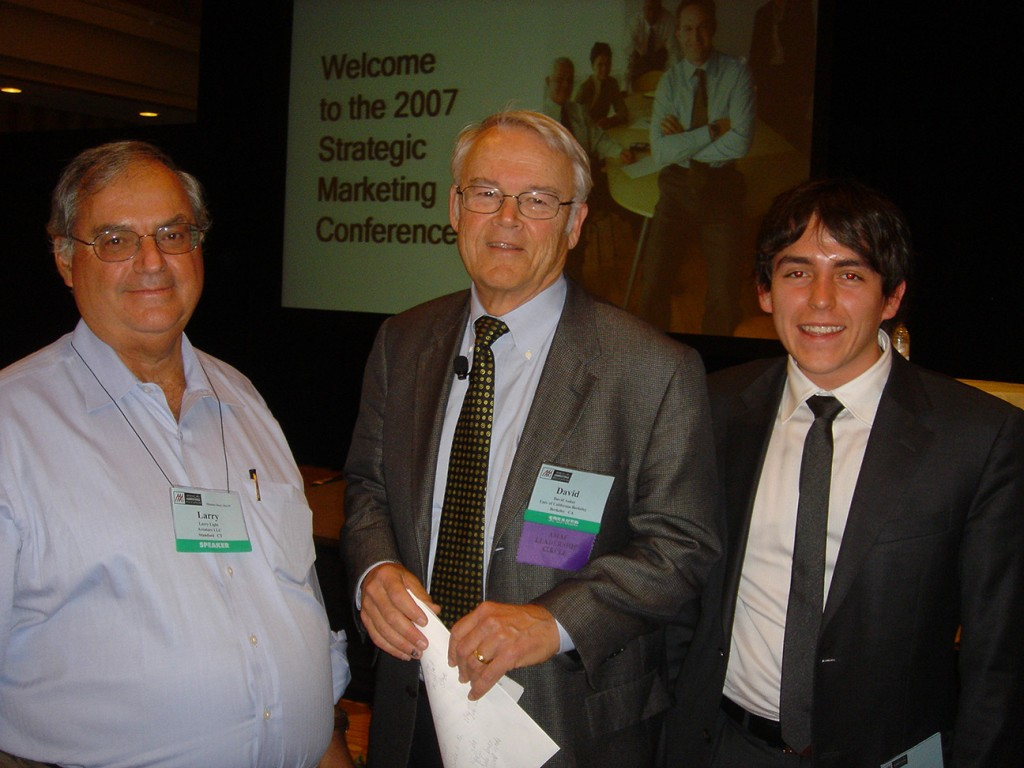 with Larry Light and David Aaker during an AMA summit