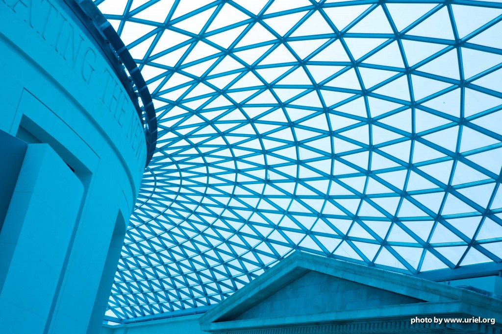 British Museum Ceiling Triangle rounds