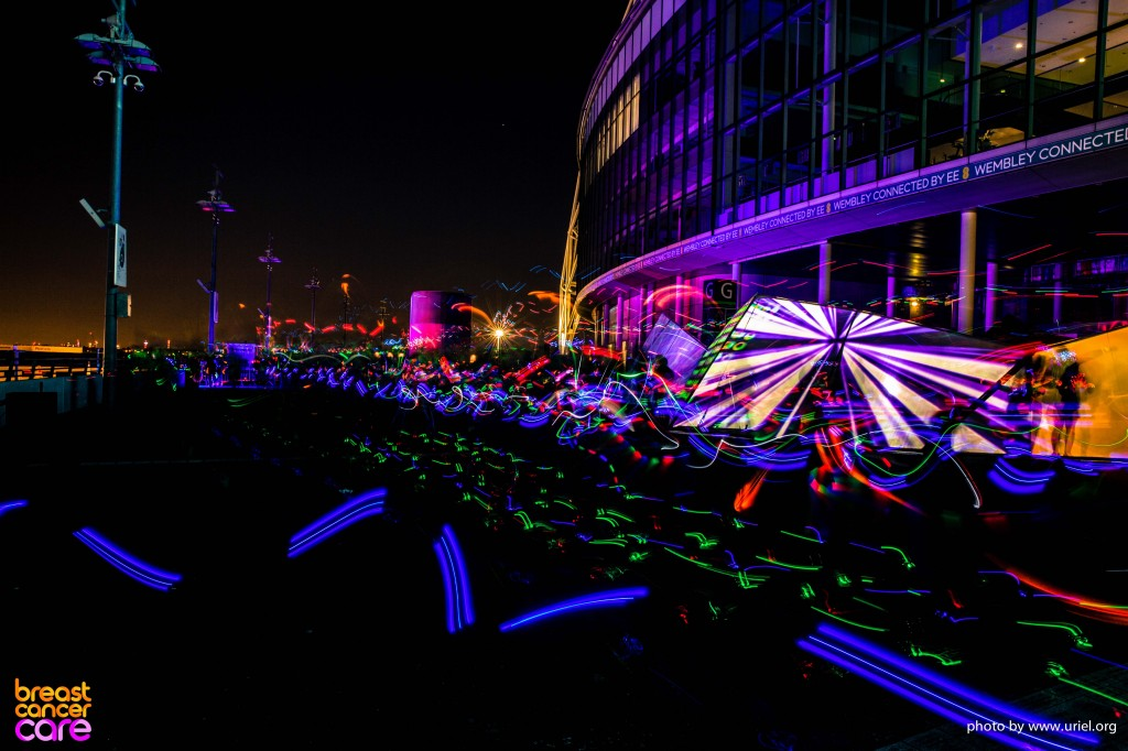 Electric Run colors lights wembley