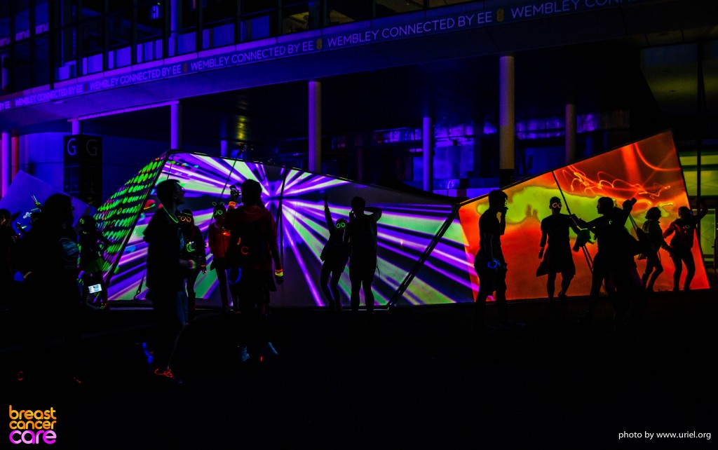 Electric Run Colors Lights and Shadows