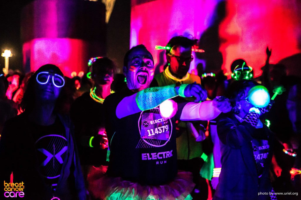 Electric Run lights colors man shouting