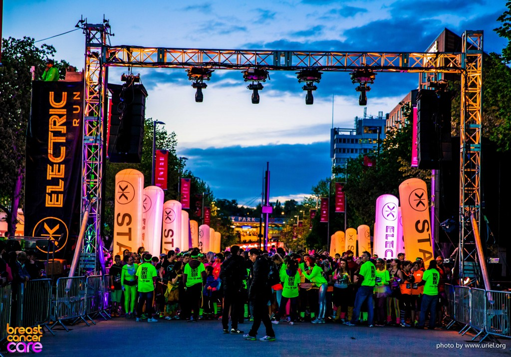 Electric Run start line