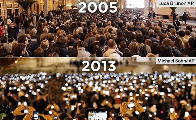 Live Conected 2005 Vs 2013 mobile internet